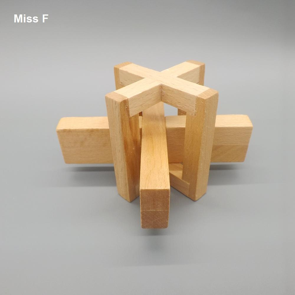 Entrenamiento intelectual divertido Asedio Gadget Juguete educativo de madera para niños Lu Ban Lock
