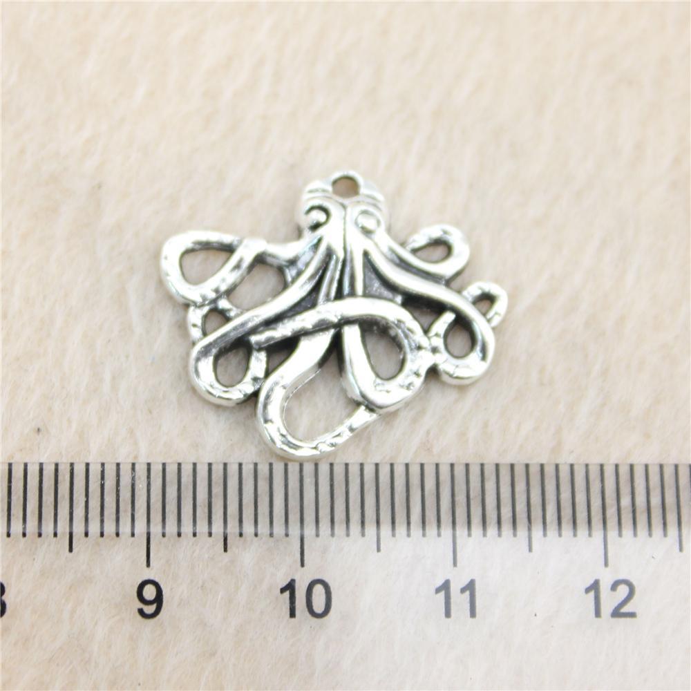 40pcs 23 * 20 milímetros antigos prata ToneSmall polvo encantos liga de zinco DIY artesanal jóias atacado Pingentes