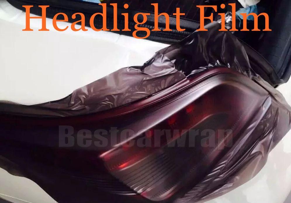 1 рулон матовый дым фар автомобиля Тонировка фар оттенок пленка свет черная лампа оттенок винил размер 0.3x10m/Roll