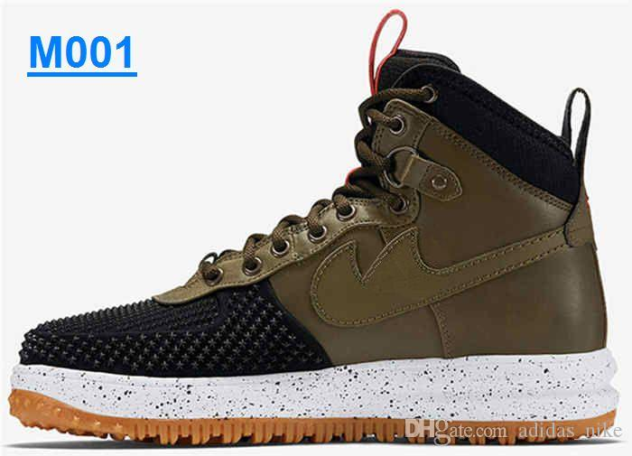 f34b612f1a4 2019 New Color Lunar Force 1 Duckboot Men'S Sneaker Boot Black White  Sneakers Walking Outdoor Sports Shoes Breathable Jogging Air Force One  Shoes From ...