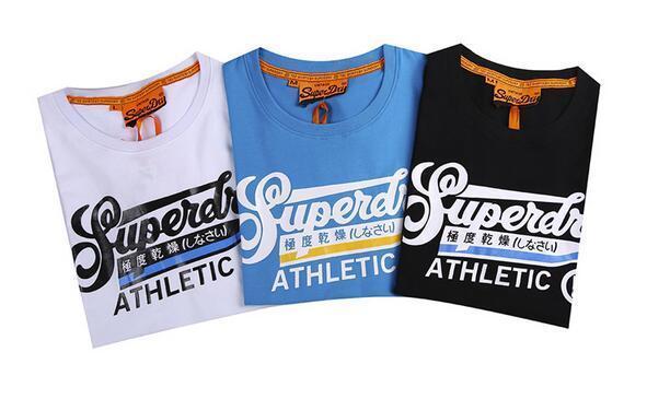4d6db7d09e4 ... Hot Summer SUPER DRY men s cotton Vintage Logo T shirts Fashion crew  Neck Graphic Tee men ...