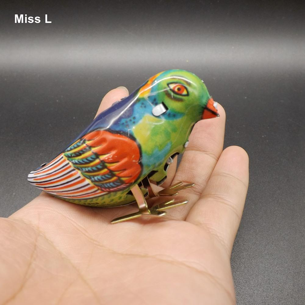 Vintage Wind-Up Pássaro Bicando Estanho Brinquedo Mecânico Crianças Presente Para Crianças Cérebro Teaser IQ Jogo Toy