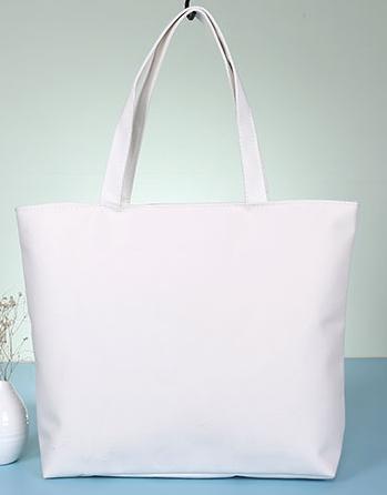 White Canvas Organizer Zipper Shoulder Bags Blank Plain Zipper ...