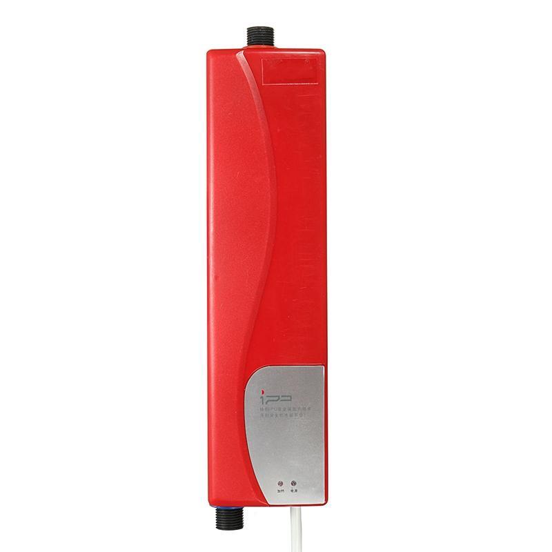 Wholesale- Mini Instant Electric Water Heater Bath Shower Heater Bathroom Kitchen Basin Sink Tap Faucet AU Plug Solar Heating Faucet Taps