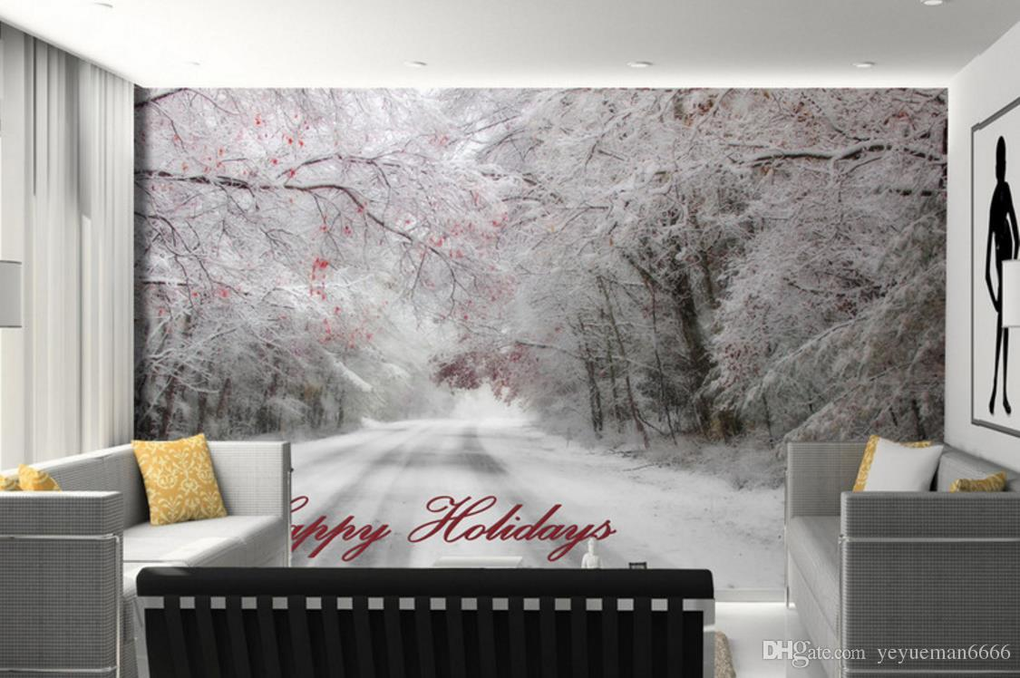 Beautiful Winter Nature Wallpaper Walls Snow Landscape Wall Papers Home Decor Living Room Wall Painting Design Images On Wallpaper Images To Wallpaper From Yeyueman6666 23 13 Dhgate Com