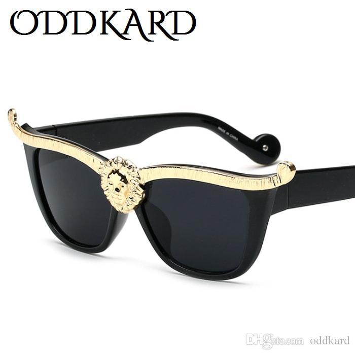 Oddkard الأزياء الفاخرة النظارات الشمسية للرجال والنساء مصمم خمر القط العين النظارات oculos دي سول uv400