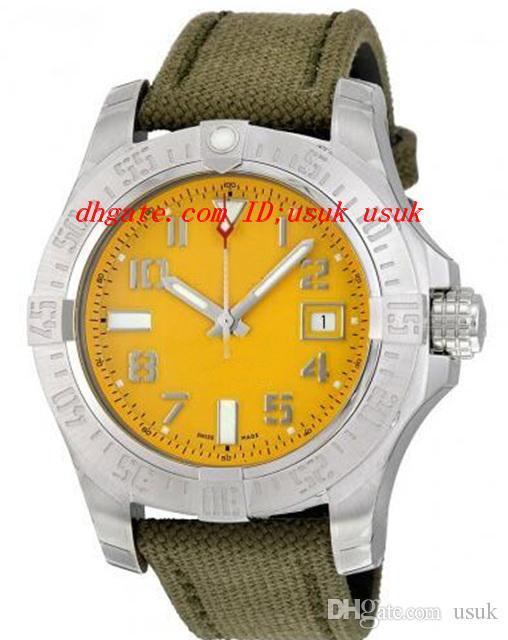 Lüks İzle Moda Seawolf Sarı Kadran Erkekler Izle A1733110-I519GCVT 45mm Otomatik Erkek İzle