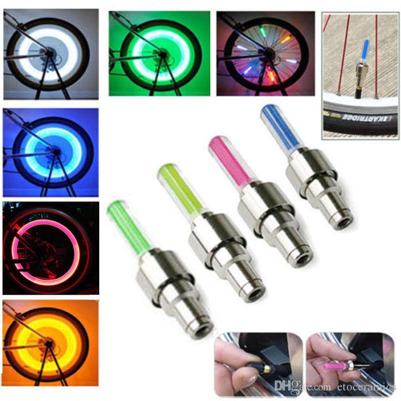 자동차 자전거 오토바이 LED 휠 라이트에 대 한 LED 플래시 타이어 휠 밸브 모자 빛