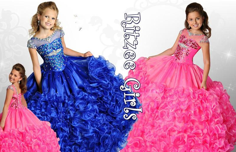 Pre Teen Pageant Dresses 2016 Girls Royal Ball Gown Prom Dresses ...