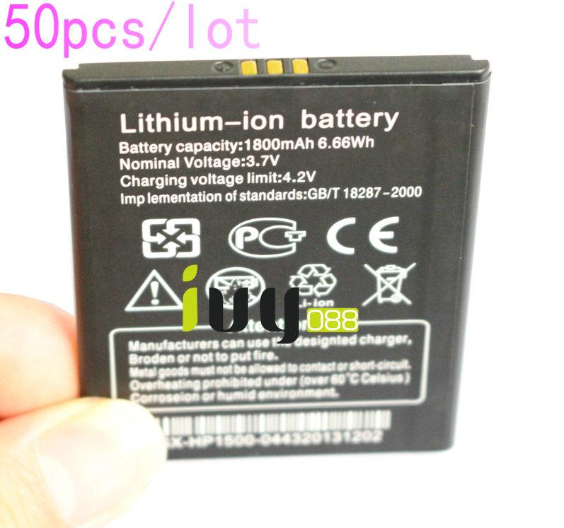 50 قطعة / الوحدة 100٪ الأصلي 1800 مللي أمبير بطارية ليثيوم أيون ل thl w100 w100s بطاريات الهاتف الذكي batteria batterij