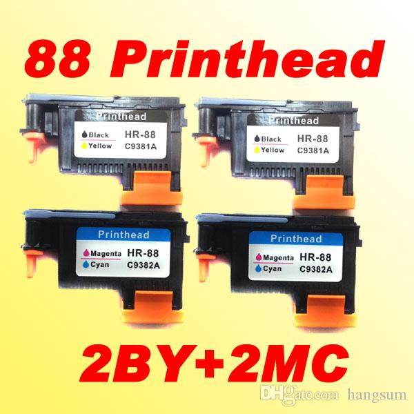 4x replacement for HP 88 for hp88 Printhead C9381A C9382A compatible for hp88 L7580 7590 K5400 K550