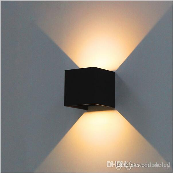 6W led wall lamps adjustable up down lighting waterproof surface mounted wall sconces aluminum garden lighting fixture Modern brief cube