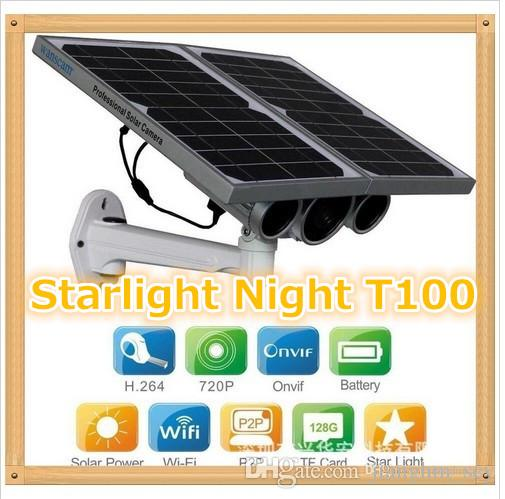 HW0029-3 Gen Solar Power Starlight IP Camera Onvif Wireless WiFi 720P HD 8mm Lens Night Vision 100m Network Waterproof Remote View
