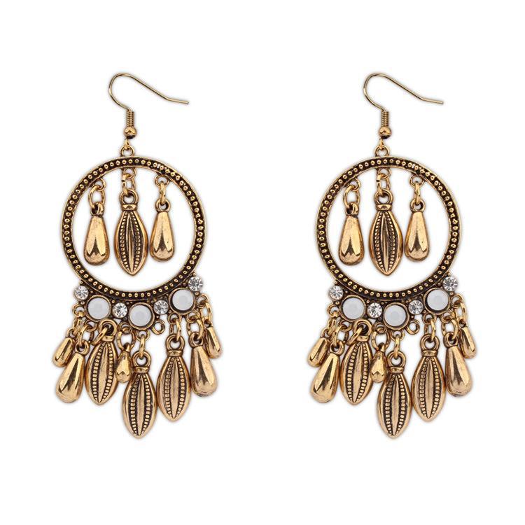 DHL free shipping New Fashion Retro Style dangle & chandelier earrings Drop and Leaf Tassels earrings Long Dangle Earrings For Women Jewelry