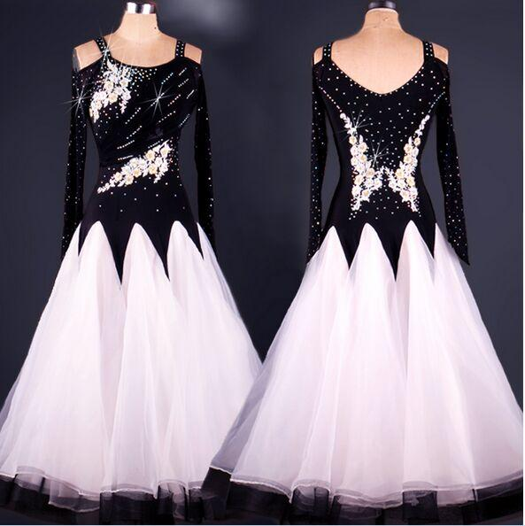 High Quality Custom Made Rhinestone Ballroom Dancewear Lady Dress Ballroom Standard Dance Women Viennese Waltz Dress Dancewear Dress