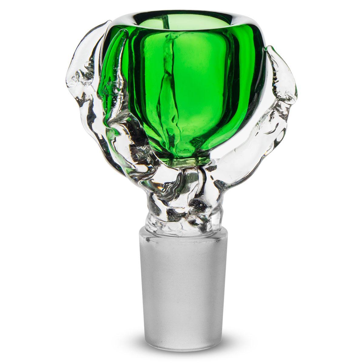 18 / 19mm Dragon Claw Design Glasschalen Glas Zubehör Viele Farben erhältlich 5 kostenlose Screens Kostenloser Versand
