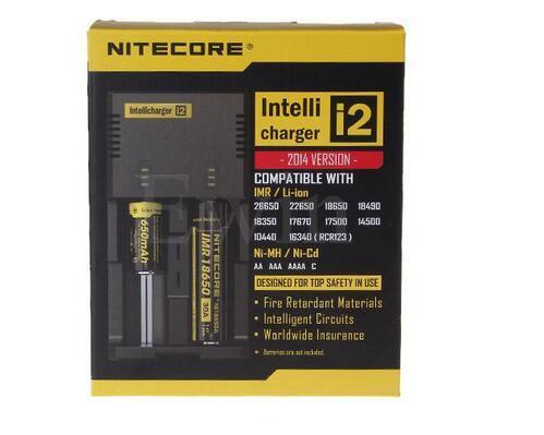 عالية الجودة شاحن بطارية Nitecore I2 العالمي ل 16340 18650 14500 26650 بطارية E السجائر 2 في 1 Muliti وظيفة Intellicharger