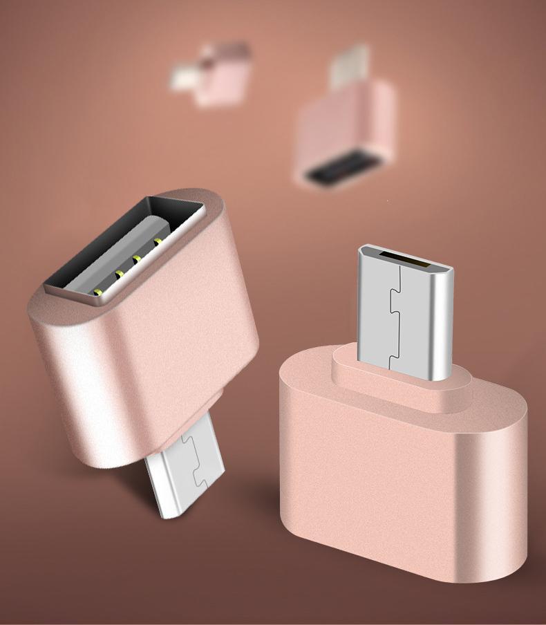 Adaptador Micro USB a USB OTG Adaptador macho a USB 2.0 Micro adaptador para teléfonos móviles Android Samsung Xiaomi LG Huawei