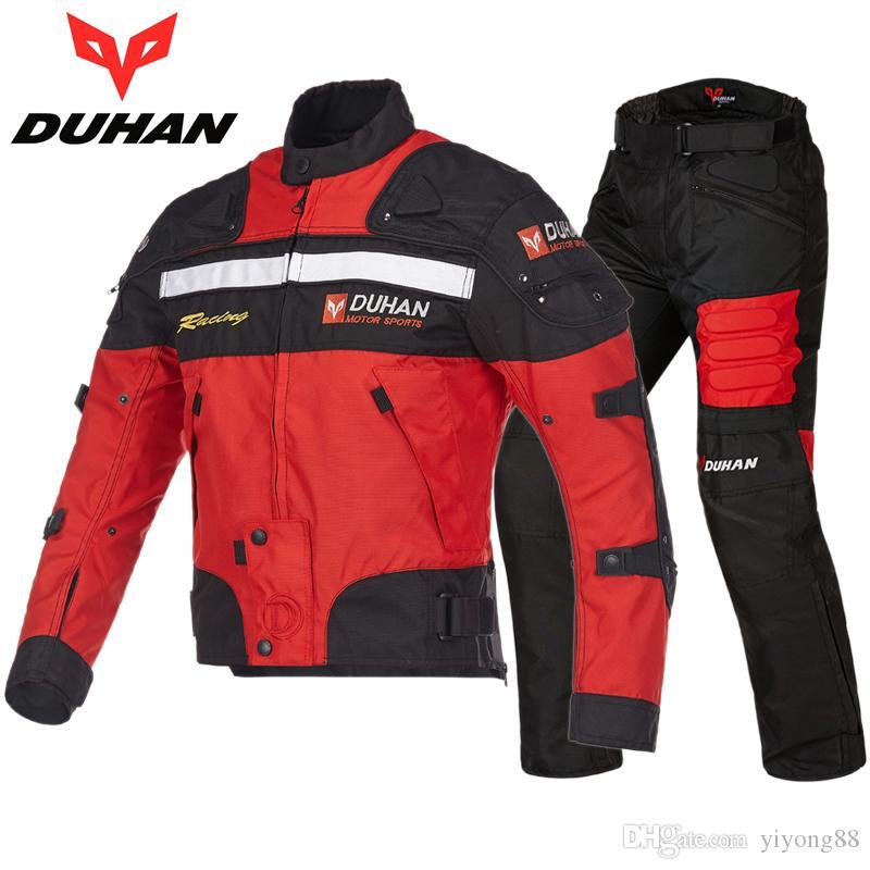 Protección para la ropa de las carreras de motocross duhan 020 paseo de la motocicleta chaquetas ropa de los pantalones de carreras de automóviles