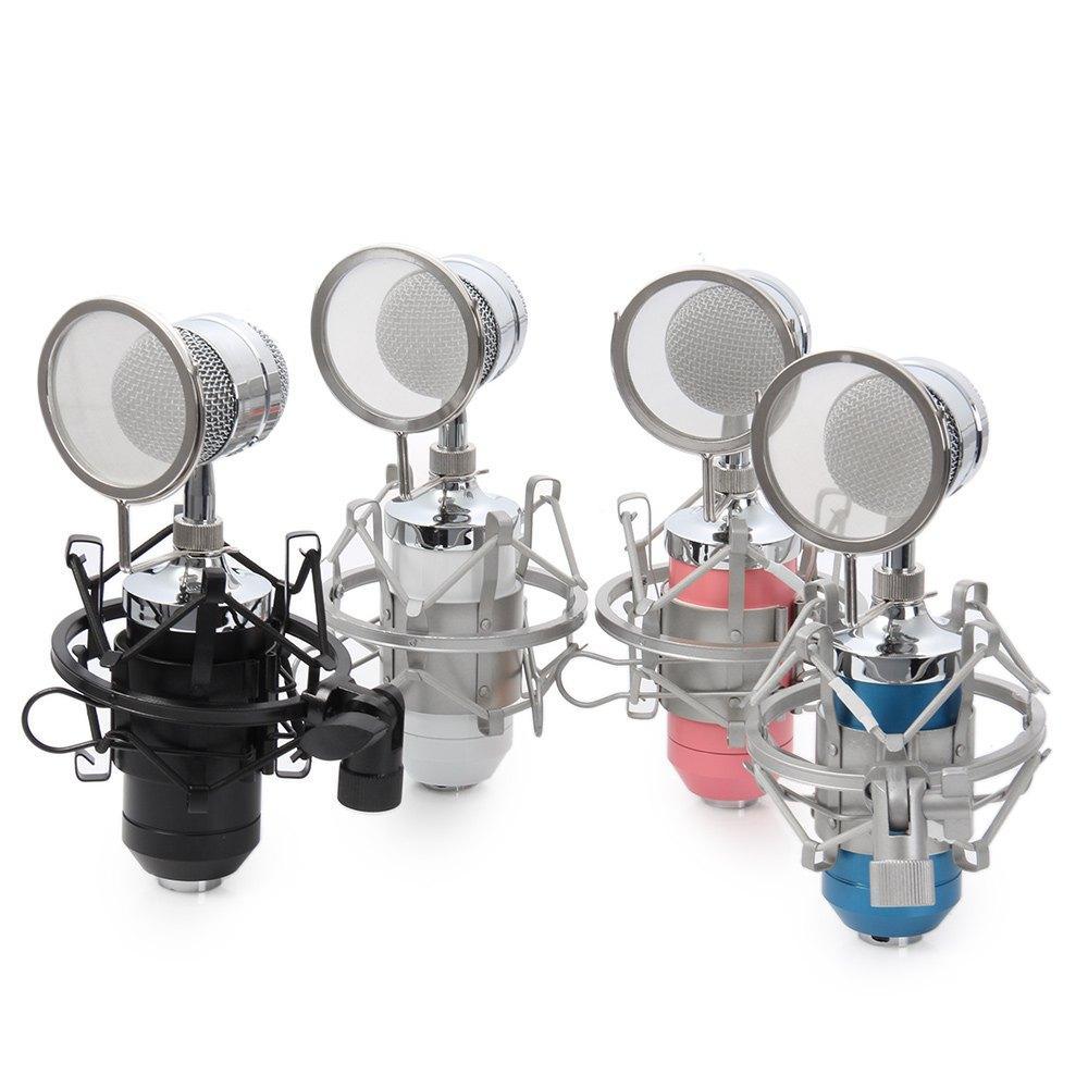 Professionale Sound Studio di registrazione microfono a condensatore con la spina di 3.5mm supporto del basamento