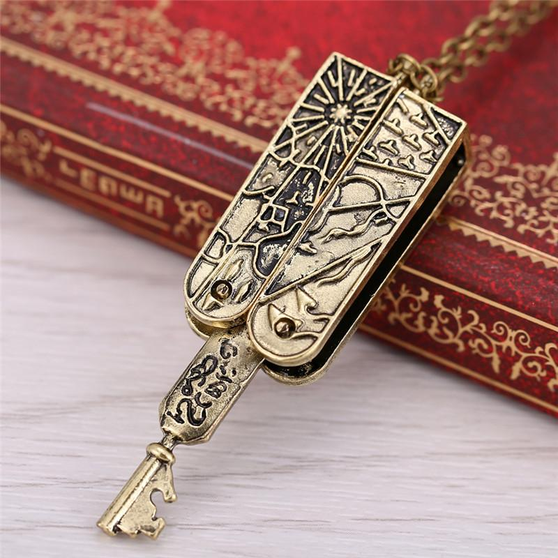 All'ingrosso-2015 Freeshipping Lolita Vintage gioielli Grimm Key Charm Collana in bronzo meccanico Nick Burkhardt Vintage Accessori