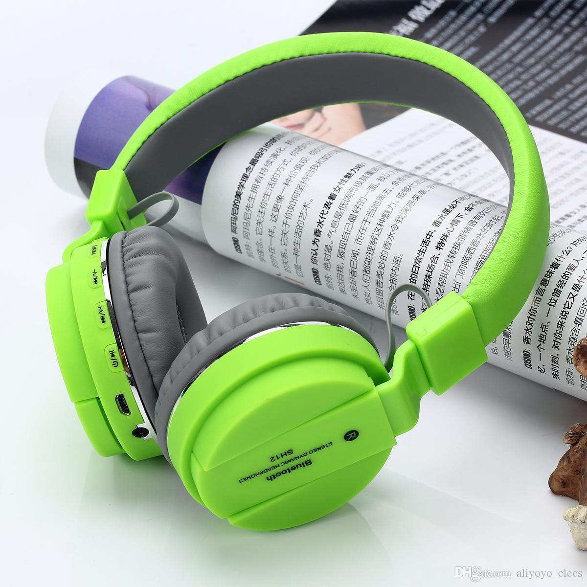 Kabellos Headset MP3-Kopfhörer Ohrhörer für Handy Tablets und PC FM-Radio /&