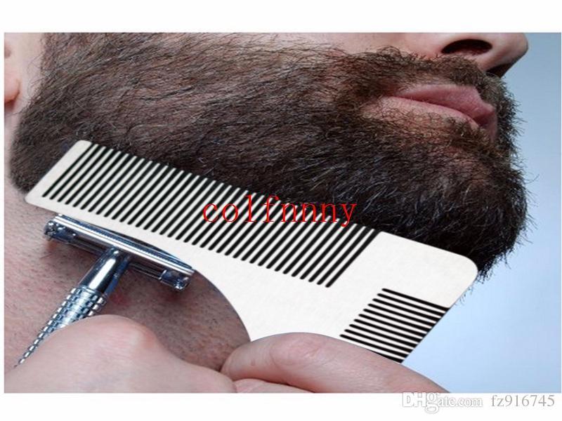 100pcs / lot acier inoxydable Beard Beard Toile de coiffeur à la main coupé à la main Moulage de moulage de cheveux à la main Modèle de garniture de barbe