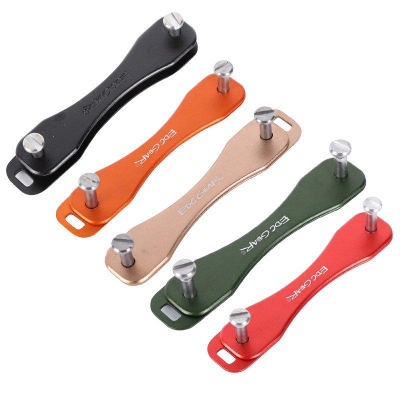 Tragbare EDC-Zahnrad Smart Sticks Tasche gefaltet Keychain Hardoxid Key Halter Clip Organizer Outdoor Mini Werkzeuge