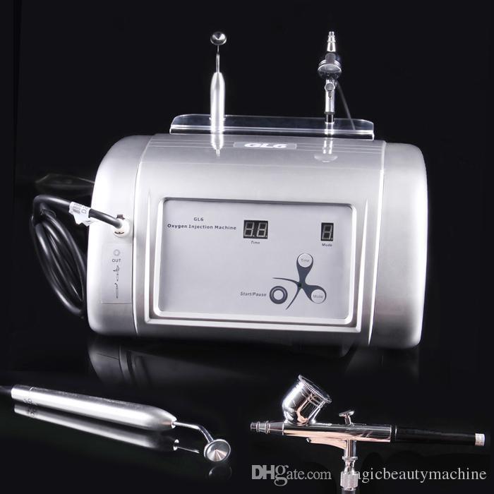 جديد المحمولة الأكسجين المياه جيت آلة التقشير 99٪ الأكسجين النقي حقن آلة الوجه الأكسجين أو إزالة علاج حب الشباب تجديد الجلد