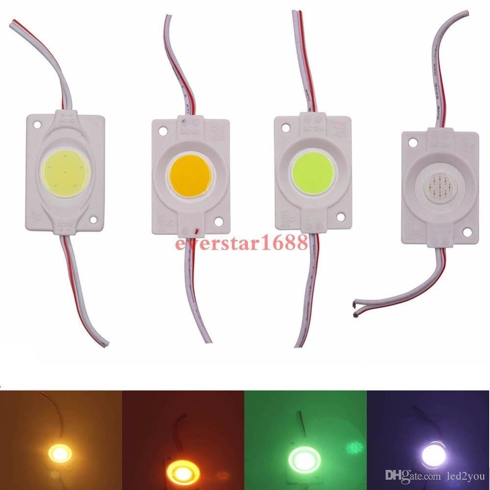 3Вт инъекции COB светодиодный модуль свет 12 В постоянного тока реклама свет красный зеленый синий желтый теплый белый IP65 водоустойчиво