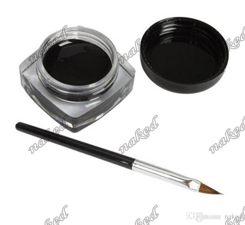 no logo black eyeliner cream mit pinsel Solides Eyeliner-Gel mit kostenlosem Pinsel. Günstiger Preis. Drucken Sie Ihr eigenes Logo.