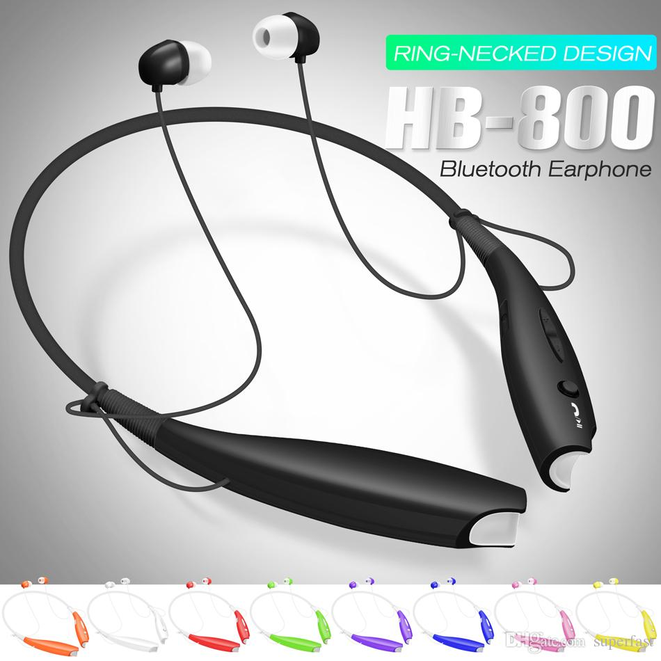 HB 800 Wireless Bluetooth Earphone Stereo Headset Sport Neckband Earbuds For HB800 Mic Headphone with Retail Package