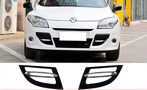 Auto-Tech 10-LED luz de circulação diurna, luz de nevoeiro do carro levou kit DRL branco para 2011-2013 Renault Megane III