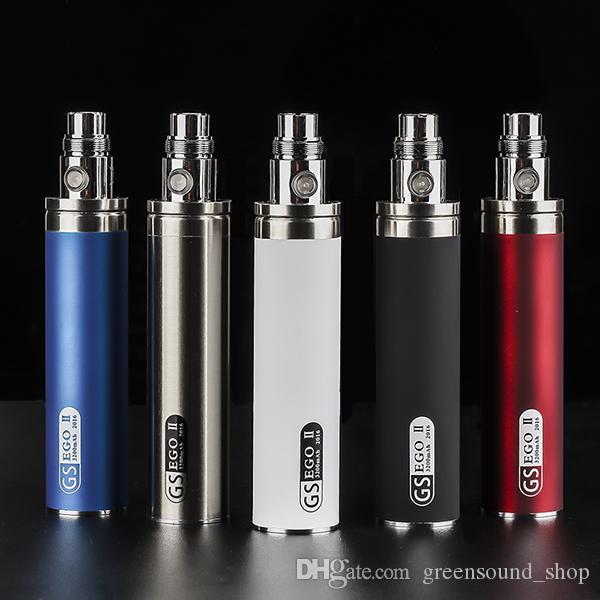 wholesale GS EGO II 3200mah battery vaporizer pen big capacity elektonik sigera 8 colors avaliable in stock ecigarette
