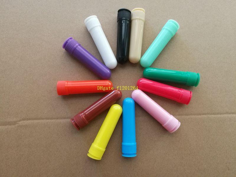 120 компл./лот Бесплатная доставка горячая продажа пустой носовой ингалятор ароматерапия носовой ингалятор палочки с фитилями 12 цвет