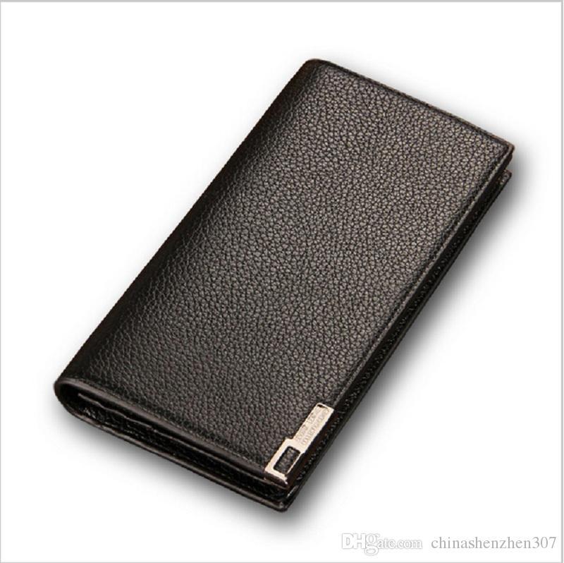 Baellerry 2016 Hot Sale Men's Wallet Slim Cash Purse Men Luxury Brands Design Long PU Leather Money Wallets free shipping