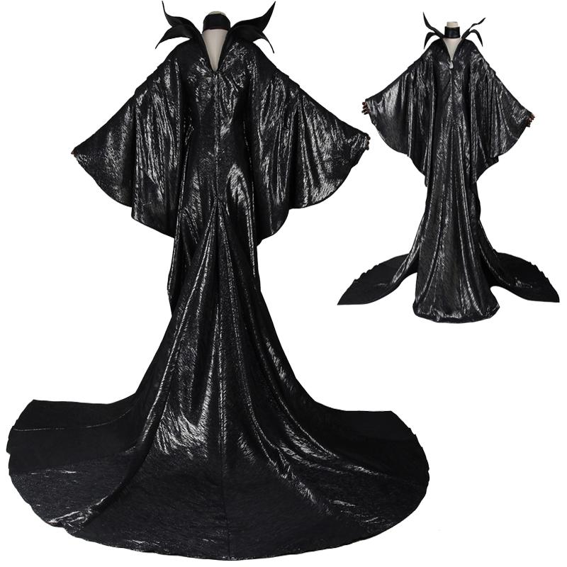 Hot Top Selling Movie Adult Maleficent Angelina Witch Sleeping Beauty Dress Cosplay Costume Halloween Suit Cosplay Party Chrismas Halloween Themed