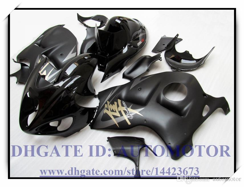INIEZIONE BRAND NEW KIT FAIRING ABS 100% ADATTO PER SUZUKI GSXR 1300 97-07 GSXR1300 1997-2007 GSX-R 1300 1998 1999 # UE773 COLORE NERO