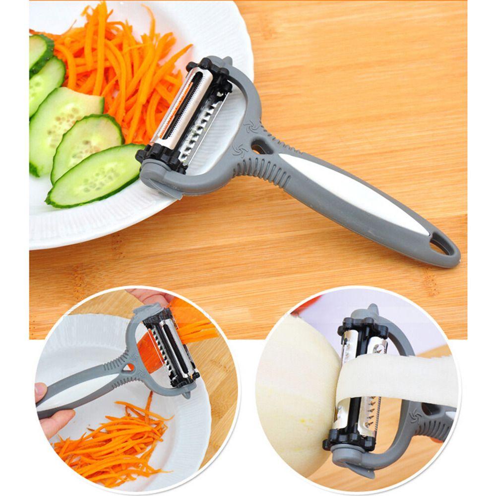 Multifunktionale 360 Grad Rotary Kartoffelschäler Gemüse Cutter Obst Melone Hobel Reibe Küche Gadget 3 Klingen Peeler