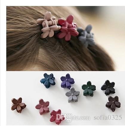 20Pcs/lot New Cute Pastic Acrylic Flower Shape Mini Hair Claw Clips For Baby Girls Women Wedding Hair clamps Accessories