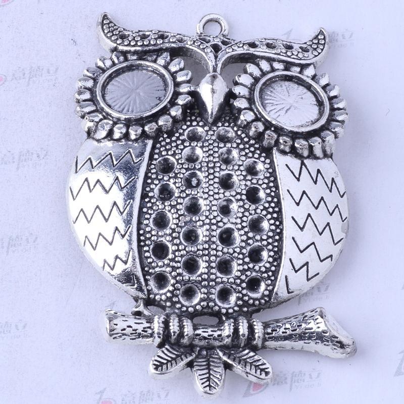 Hibou breloques pendentif bijoux en alliage de zinc antique argent / bronze antique pendentif fit collier 5pcs / lot 3469