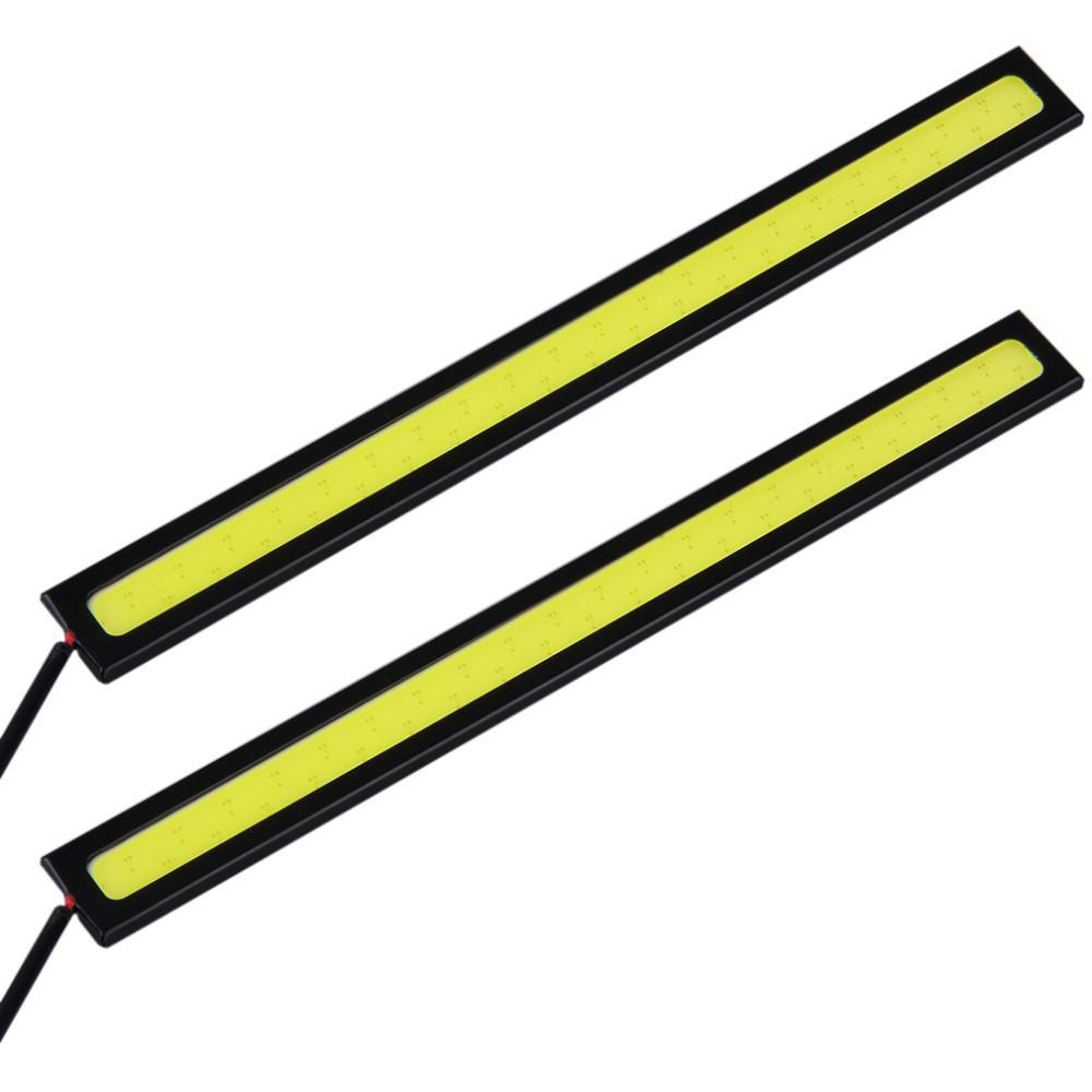 2 قطعة / الوحدة 17 سنتيمتر led cob drl النهار الجري الخفيف للماء dc12v الخارجية بقيادة السيارات التصميم مصدر الضوء وقوف السيارات الضباب بار مصباح