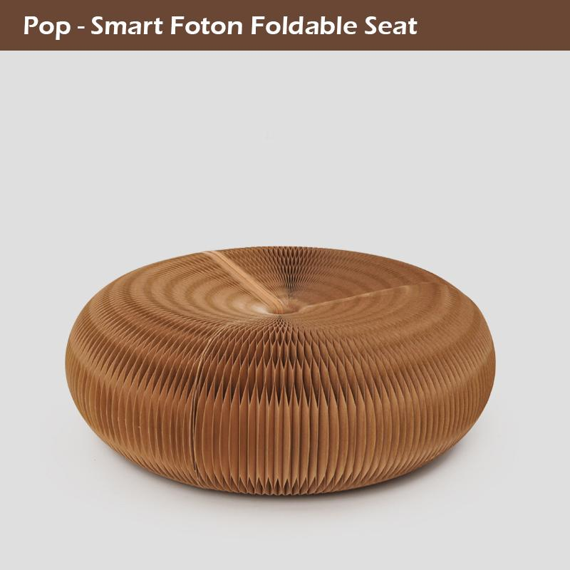 Novel Innovation Furniture Pop -Smart Futon Seat Indoor Yoga mat Universal Waterproof Accordion Style Foldable Kraft Single Seat P.C 71-1005