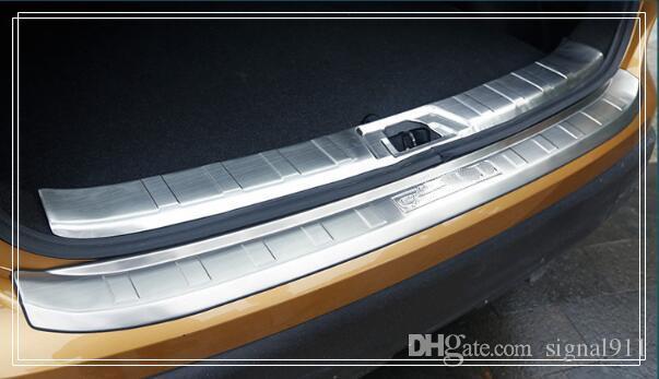 Высокое качество 2pcs (внутренний + внешний) автомобиль задний хобот защитой мыска пластинчатые, декоративная пластина, защита бар для Nissan Qashqai 2016-2019 гг