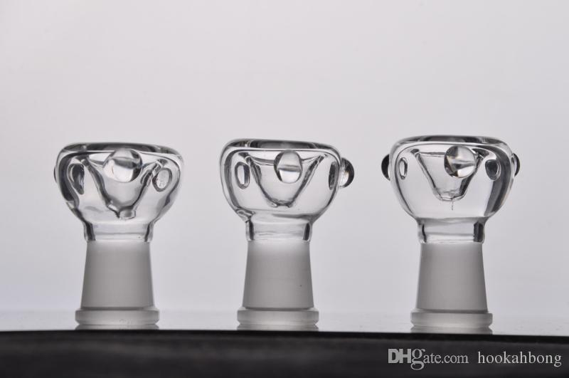 Bicchiere in vetro da 14 mm e 18 mm per vetro erba secca Accessori per bong in vetro