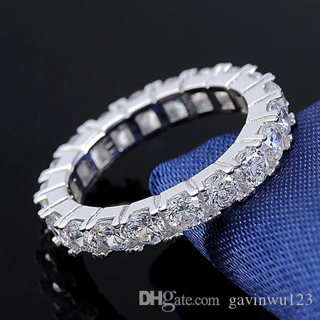 Orsa Klejnoty Najwyższej Jakości Cubic Cyrkonia Kryształ Piękny Wieczność Pierścień na Platinum Plated Finger Biżuteria dla kobiet lub31