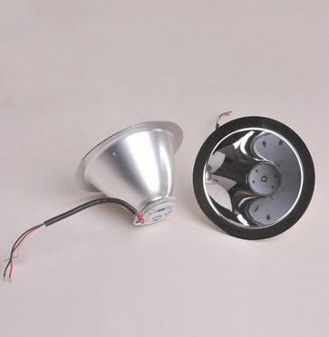 실제 랜턴 헤드 램프 10w 전원 라이트 비즈 Caplights 조합 광부 램프 반사체 알루미늄 합금 7.8cm R4 화이트 / 옐로우