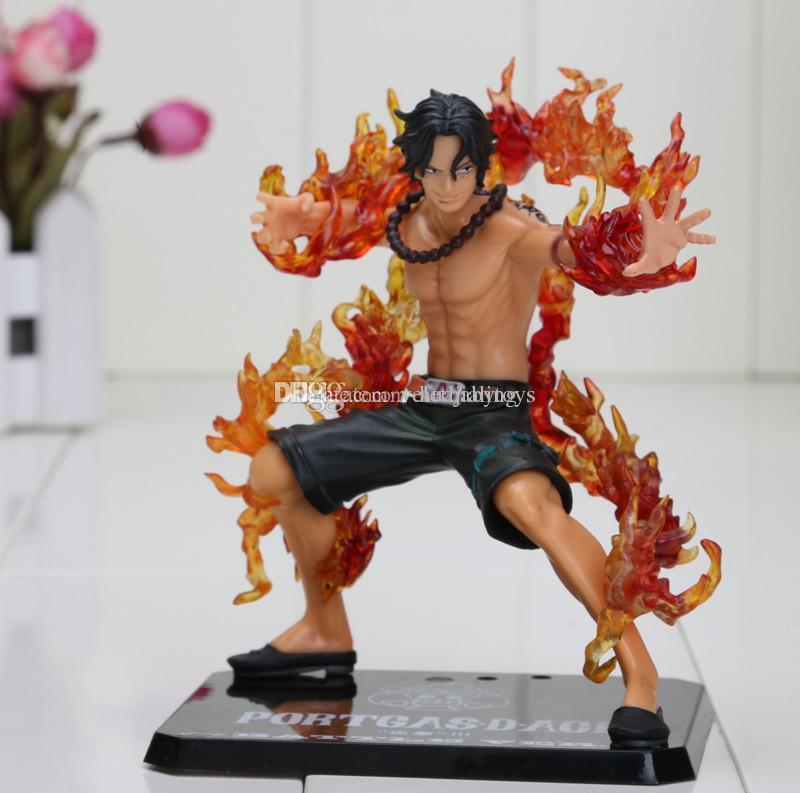 "Anime One Piece ZERO PORTGAS D ACE Battle Cross Fire Ver.5/"" Figure Toy doll Gift"