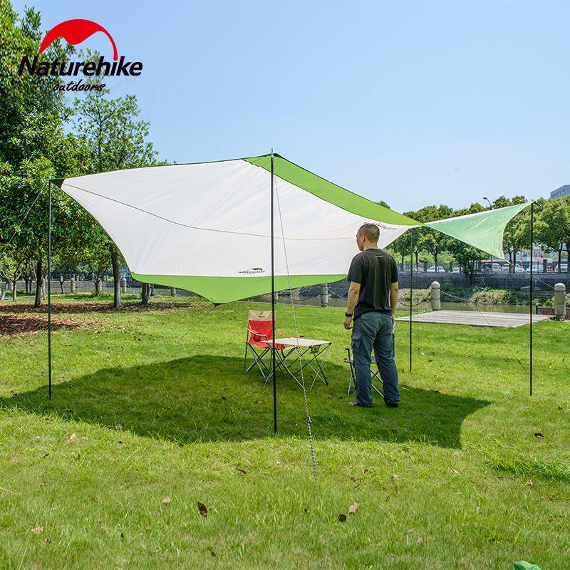 Wholesale- Naturehike outdoor Sun Shelter Camping awning Waterproof Pergola Awning Canopy iron poles beach tent sun shelter NH