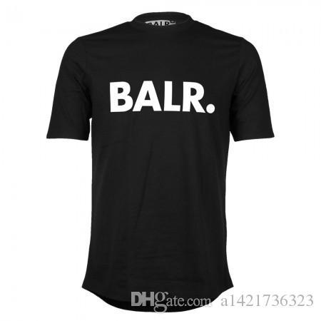 Di alta qualità NEW fashion summer style BALRED maglietta degli uomini manica corta blar tshirt abbigliamento fondo tondo lungo indietro balr t-shirt